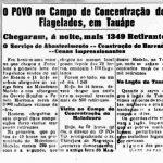 """Jornal """"O Povo"""" noticia sobre os campos de concentração no Ceará"""